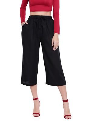 Women's Fashionable Stylish Black Trousers