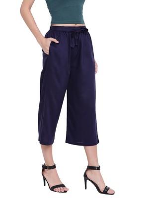 Women's Fashionable Stylish Navy Blue Trousers