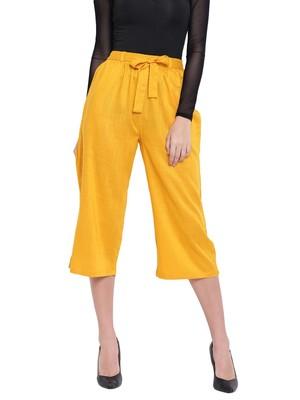 Women's Fashionable Stylish Mustard Trousers