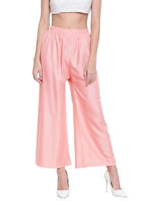 Women's Fashionable Stylish Peach Trousers
