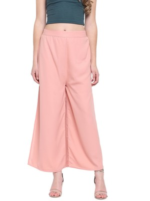 Peach Women's Layered Palazzo Trouser