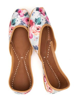 Women's Dalenna Windflower Juttis  Genuine Leather Juttis