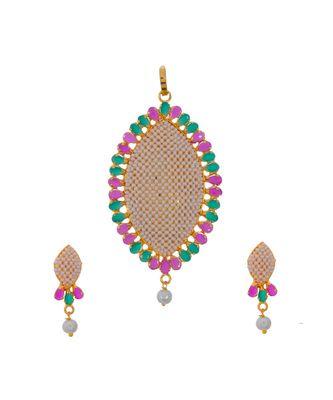 Traditional Rajasthani Pearl Beautiful Delicate Pendant Set