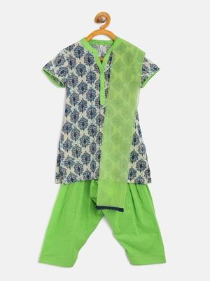 Blue Cotton Salwar suit with dupatta for girls