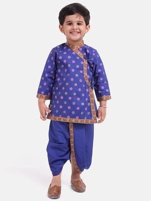 Blue Cotton Dhoti Kurta Krishna Kanhaiya Suit Dress For Baby Boy