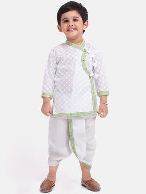 White Cotton Dhoti Kurta Krishna Kanhaiya Suit Dress For Baby Boy