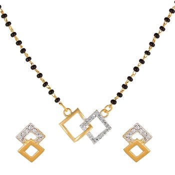 White diamond mangalsutra