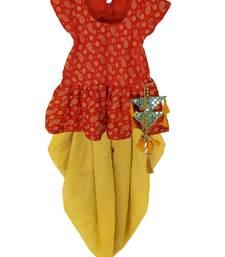 Maroon Girls's indowestern dhOTI suit,indo western dress,Peplum top dhoti
