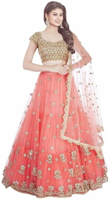 Heavy Embroidery Lehngha choli