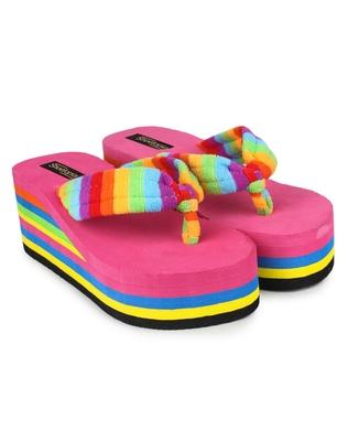 multicolor synthetic Flip Flops For Women