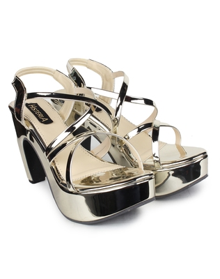 multicolor synthetic Heels Sandal For Women