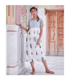 multicolor printed cotton dresses