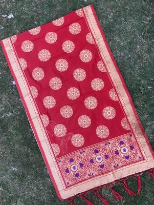 Red Woven Banarasi Dupatta