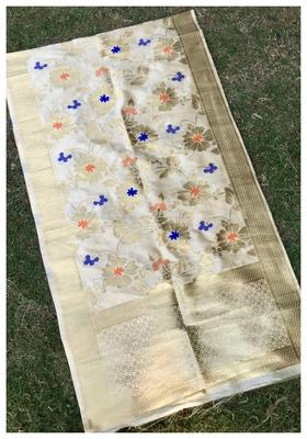Chiku Banarasi silk dupatta
