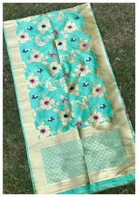 Pista Banarasi silk dupatta