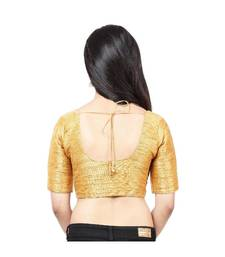 Dark-gold Mulberry  Padded designer ready made saree blouse