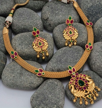 Georgeous high gold plated multicolour necklace set