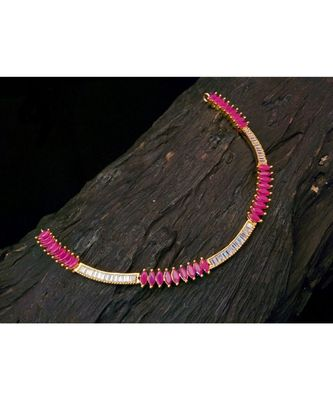 Zirconia stones slider necklace