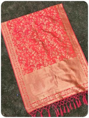 Orange woven banarasi Dupatta