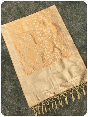 Yellow woven banarasi Dupatta