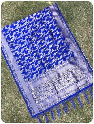blue woven banarasi Dupatta