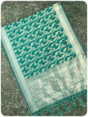 Green woven banarasi Dupatta