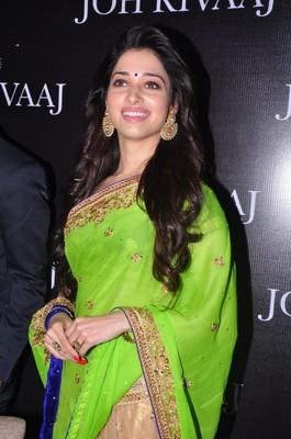 Dual Fabric Sizzling Hot Bollywood Actress Tammana Inspired Designer Wear Saree Fabiona 409222