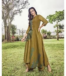 Women's Pear Green Modal Jacquard Amzing Designer Kurtis