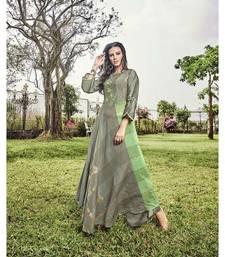 Women's Grey Modal Jacquard Wonderful Designer Kurtis