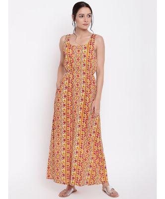 RK Print Elastic Dress