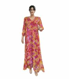 Multicolor Anarkali Naznin Chiffon Long Kurti