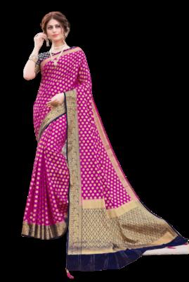 Multi Color Nylon With Diamond Nylon saree with Blouse