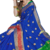 Blue Color Banarasi Silk Dyed saree with Blouse Red
