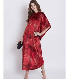 Shimmery Velvet Assymetreic Kaftan Dress
