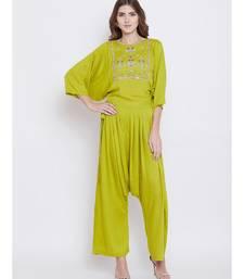 Green Elegance Embellished Top set