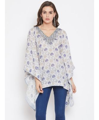 Candytuft Embellished Kaftan Top