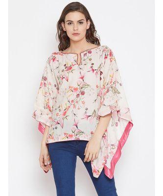 Floral Blush Embellished Kaftan Top