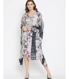 Satinesque Kaftan with Lace Border
