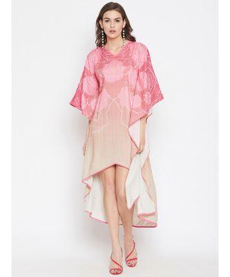 Rose Wire Hi-Low Kaftan Dress