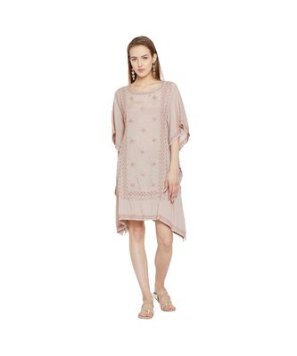 MAUVE CHARM CHIKANKARI DRESS