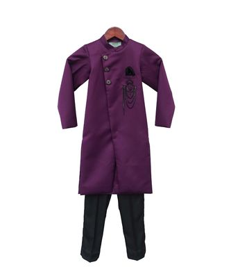 Purple Ajkan with Pant