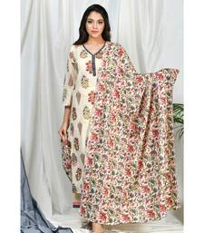 Safeera Set with Floral Jaal Dupatta