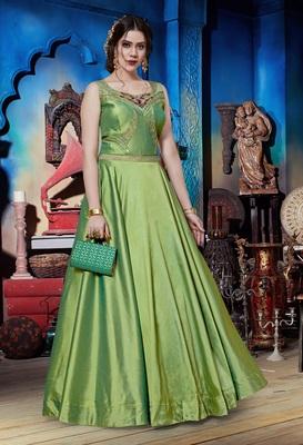 Liril Soft Silk Khatli & Hand Work with Fancy Pattern Floor Length gown