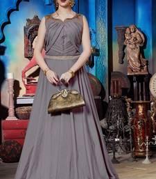 Grey Soft Silk Khatli & Hand Work with Fancy Pattern Floor Length gown