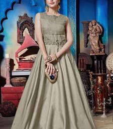 Silver Soft Silk Khatli & Hand Work with Fancy Pattern Floor Length gown