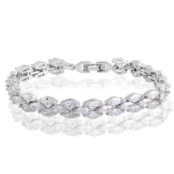 Silver cubic zirconia bracelets
