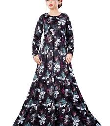 Justkartit Tropical Floral Long Printed Casual Wear Maxi Gowns Dress for Women