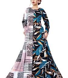 Justkartit Occasion Wear Long Plus Size Printed Maxi Gown for Women