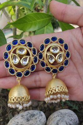 Blue Sapphire Jhumkas