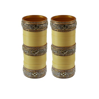 Drak Cream Stone Stud Acrylic Bangle